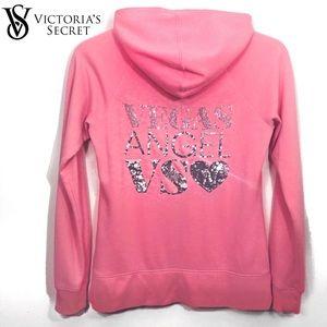 Victoria's Secret Vegas Angel Sequin Pink Hoodie